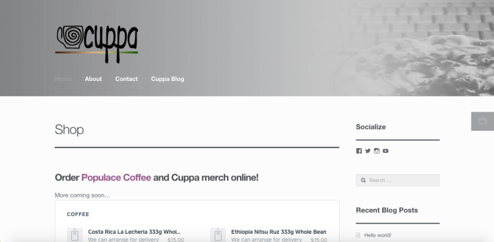 Jackson Cuppa Site
